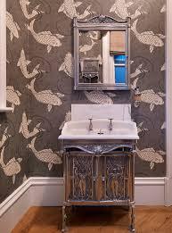 Powder Bathroom Ideas Powder Room Wallpaper Powder Room With Grasscloth Wallpaper
