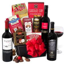 chocolate gift basket wine chocolate gift basket by gourmetgiftbaskets