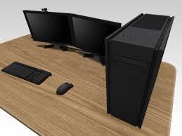 High Quality Computer Desk Second Life Marketplace Nerdo Computer Desk High Quality Mesh