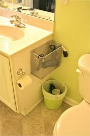 Best Way To Clean Up Hair In Bathroom Hang A Metal File Folder With 3m Removable Hooks Beside A Sink