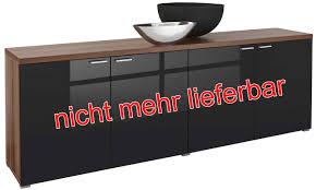 Xynto Wohnzimmer Kommode Nussbaum Schwarz Grafffit Com
