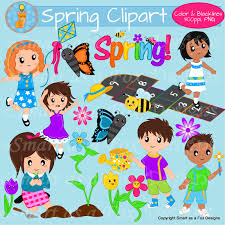 spring activities children clipart fox design hopscotch and foxes