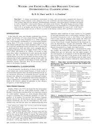water and excreta related diseases unitary environmental