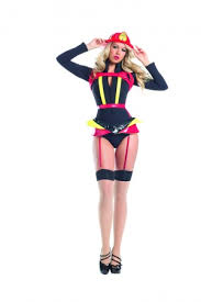 Female Firefighter Halloween Costume Handle 1 Pc Firefighter Costume