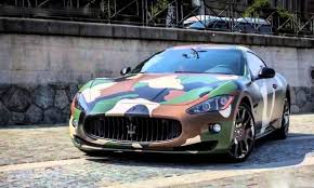 maserati wrapped army camouflage wrap vehicle bright