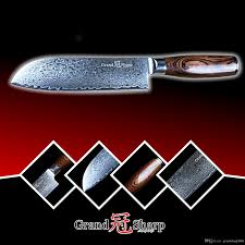 santoku knife japanese damascus vg10 steel chef knife kitchen