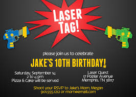 laser tag birthday invitations blueklip com