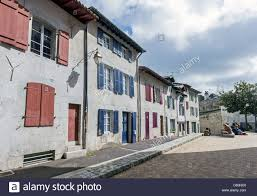 traditional french houses in bayonne aquitaine southwestern
