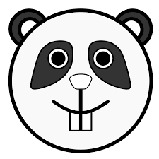 linuxien panda black white line art coloring book colouring