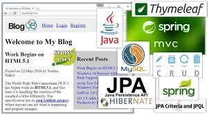 tutorial java spring hibernate creating a blog system with spring mvc thymeleaf jpa and mysql