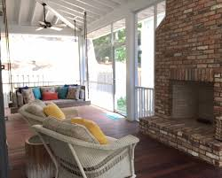 Screen Porch Fireplace by Screened Porch Addition For A Beach House