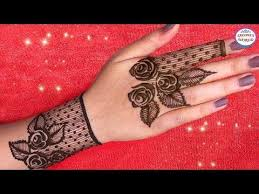 how to apply simple mehndi designs for back jewellery