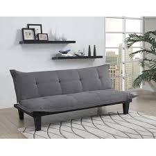 charcoal microfiber click clack futon sofa bed lounger