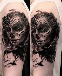 41 best day of the dead neck tattoo images on pinterest day of