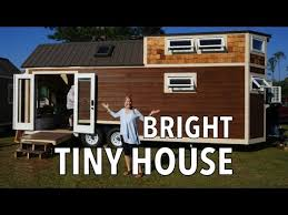 tiny house with mega couch guest room and a tub youtube