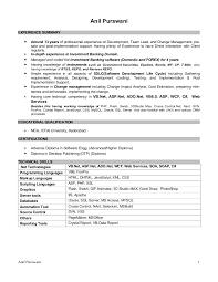 Sql Server Developer Resume Sample by Anil Purswani Resume