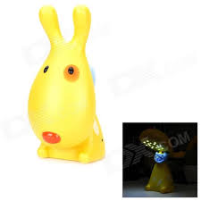 cute rechargeable 0 8w 16 led white light love dog lamp yellow