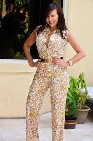 white and gold jumpsuit gold white jumpsuit fashion