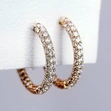 hoop huggie huggie hoop diamond earrings sea wave diamonds