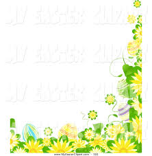 free easter border clipart collection