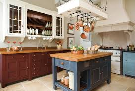 Kitchen Island With Hanging Pot Rack Country Kitchen Ideas With Grey Mobile Island With Seating