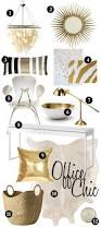 Black And White Home Office Decorating Ideas by Office Chic A White U0026 Gold Affair Gold Office