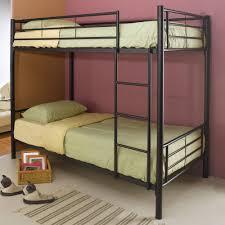 coaster twin over twin metal bunk bed black walmart com