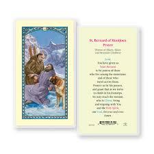 st bernard of montjoux prayer laminated prayer holy card 25 pc