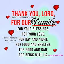 prayer for my family thank you lord for everything
