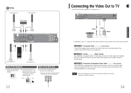 samsung home theater system manual connecting the video out to tv ht tp33 samsung ht up30 user