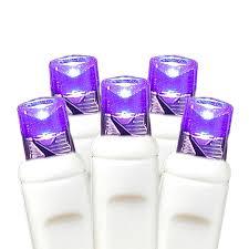 white wire wide angle purple 50 bulb led lights sets 11