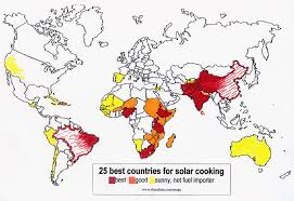 Map Of Countries Image Map Of Countries With Most Solar Cooking Potential Gif