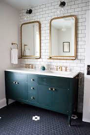 brass bathroom mirror astoria mirror with tray transitional bathroom