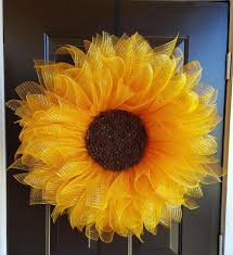 mesh sunflower wreath ideas sunflower wreaths