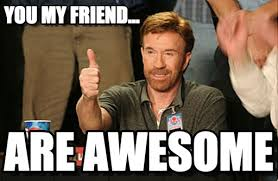 You Are Awesome Meme - you my friend chuck norris approves meme on memegen