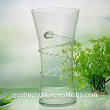 Clear Plastic Tall Vases Clear Reversible Trumpet Glass Vase Clear Reversible Trumpet