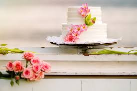 Beach Green Pink Beach Flowers Hawaii Wedding Cake Winter Wedding