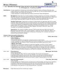 Sample Resume For Construction Manager by Northtech Management Brian U0027s Resume