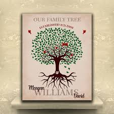 custom family tree roots our family tree gift for