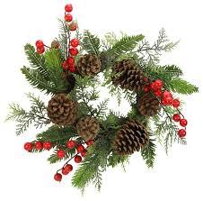 14 faux berries pine cones and cedar