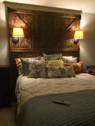 Bed Headboard Lights Custom Made Barn Door Headboard Queen With Barn Door Track