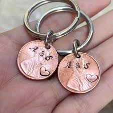20 anniversary gift 1995 keychain for couples from guitarpickkeychainb on etsy