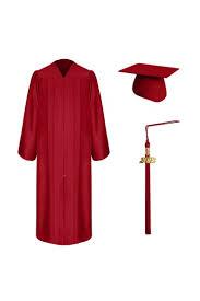 cap gown and tassel matte graduation cap gown tassel set high school