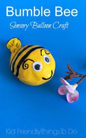 a bumble bee balloon fidget sensory craft for kids crafts