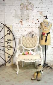 Tufted Upholstered Chairs Shabby Chic Chairs