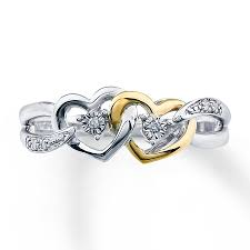 gold promise rings diamond promise ring sterling silver 10k gold