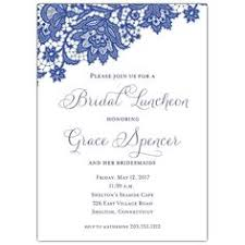 luncheon invitations blue chalk wood lace bridal luncheon invitations bridal shower