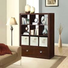 Using 2 Ikea Expedit Bookcases by Bookcase Onin 9 Cube Room Divider With 2 Drawers Ikea Expedit
