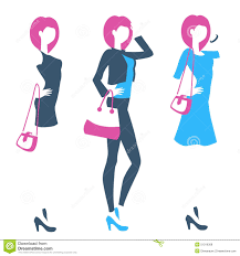 online boutique logo for boutique clothing store online shop with standing wom