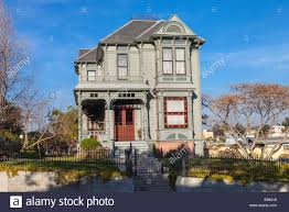 victorian homes in angelino heights los angeles california usa